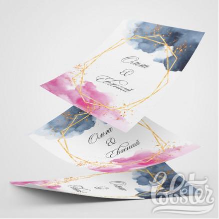 разработка дизайна свадебных листовок